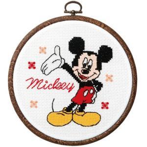 オリムパス ディズニー刺繍キット ミッキーマウス(フープ付)  【刺繍キット】|ko-da