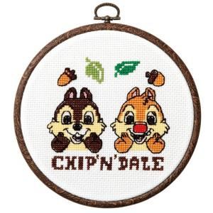 オリムパス ディズニー刺繍キット チップ&デール(フープ付)  【刺繍キット】|ko-da