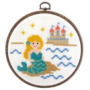 オリムパス 刺繍キット ものがたりシリーズ 人魚姫(フープ付)   【刺繍キット】|ko-da