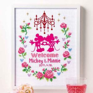 オリムパス ディズニー刺しゅうキット ウェルカムボード(ピンク) 【刺繍キット】|ko-da