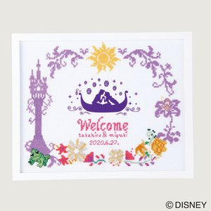 オリムパス ディズニー刺しゅうキット ウェルカムボード 塔の上のラプンツェル【刺繍キット】|ko-da