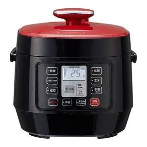 コイズミ マイコン電気圧力鍋 レッド KOIZUMI KSC-3501-R|ko-te-ya