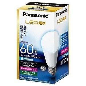 パナソニック Panasonic LED電球(全光束810lm/昼光色相当・口金E26) 一般電球タイプ LDA7D‐G/K60E/S/W|ko-te-ya