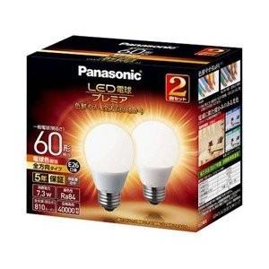 パナソニック 調光器非対応LED電球 「LED電球プレミア」(一般電球形・全光束810lm/電球色相当・口金E26/2個入) LDA7L-G/Z60E/S/W/2/2T|ko-te-ya