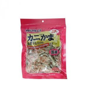 フジサワ 国産 犬猫用 カニ入りかま&煮干しミックス 160g×10袋セット|ko-te-ya