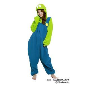 サザック フリース着ぐるみ スーパーマリオ ルイージ BAN-058 フリーサイズ(大人用)|ko-te-ya