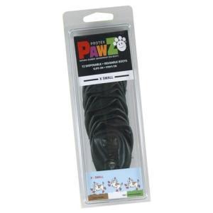 正規輸入品 アメリカ Pawz Dog Boots社製 ポウズ ラバー・ドッグ・ブーツ XS Black PZBLKXS|ko-te-ya