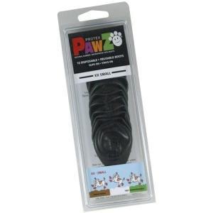 正規輸入品 アメリカ Pawz Dog Boots社製 ポウズ ラバー・ドッグ・ブーツ XXS Black PZBLKXX|ko-te-ya