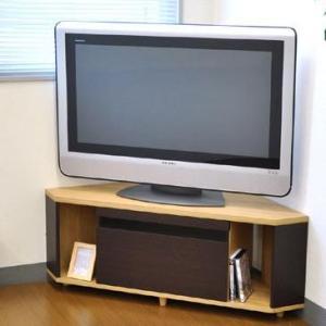 TVboard BKガラススリット コーナーAVボード120 AV-CORN120 ナチュラル&ブラウン|ko-te-ya