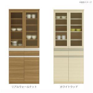 フナモコ 日本製 KITCHEN BOARD JUST! 食器棚 ガラス戸 732×448×1800mm|ko-te-ya