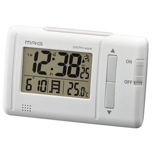 MAG(マグ) デジタル電波目覚まし時計 ファルツ ホワイト T-692 WH-Z|ko-te-ya