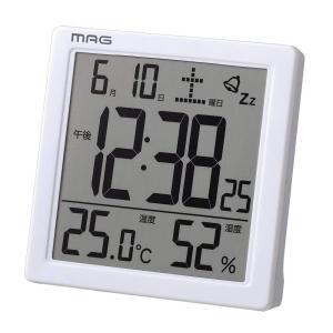 MAG(マグ) デジタル置き時計 カッシーニ ホワイト T-726 WH-Z|ko-te-ya