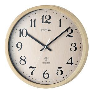 MAG(マグ) 電波壁掛け時計 ペストル ナチュラル(木目調) W-699 N|ko-te-ya