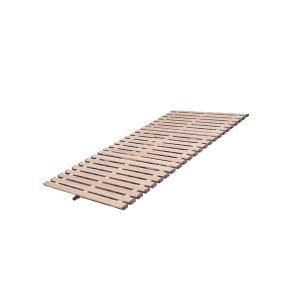 立ち上げ簡単! 軽量桐すのこベッド 3つ折れ式 セミシングル KKT-80|ko-te-ya