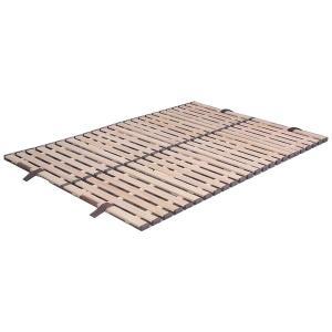 立ち上げ簡単! 軽量桐すのこベッド 4つ折れ式 ダブル KKF-410|ko-te-ya
