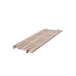 立ち上げ簡単! 軽量桐すのこベッド 4つ折れ式 シングル KKF-210|ko-te-ya