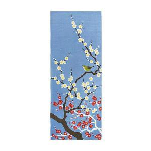 ヤマコー 四季彩布 てぬぐい 梅と鶯 87547|ko-te-ya