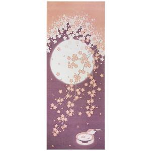 ヤマコー 四季彩布 てぬぐい 月と桜 87549|ko-te-ya