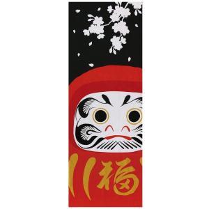 ヤマコー 大和絵 てぬぐい 達磨に桜 89273|ko-te-ya