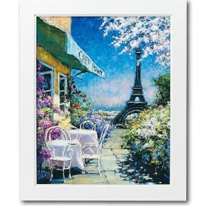 ユーパワー マルコ マヴロヴィッチ アートフレーム 「パリのカフェ」 Lサイズ MM-08002|ko-te-ya