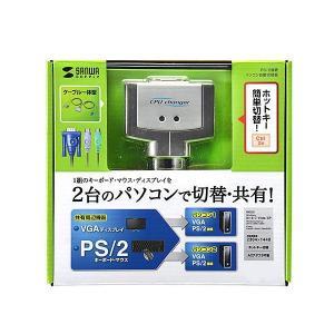 サンワサプライ パソコン自動切替器(2:1) SW-KVM2CPN ko-te-ya