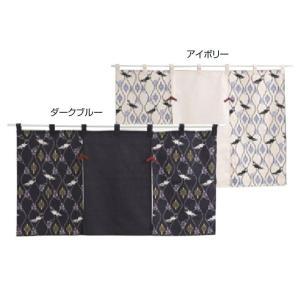川島織物セルコン 和のれん 花鳥立涌 85×90cm EL1004|ko-te-ya