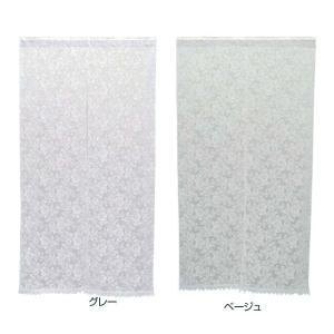 川島織物セルコン チュールエンブロイダリー のれん 85×150cm EW1112|ko-te-ya