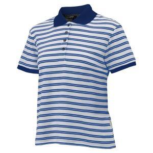 ONYONE(オンヨネ) レディス半袖ボーダーポロシャツ Sサイズ ブルー ODJ88539|ko-te-ya