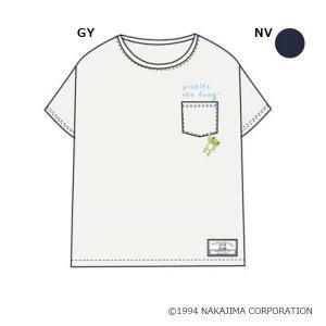 かえるのピクルス 胸ポケTシャツ M〜L PT40919|ko-te-ya