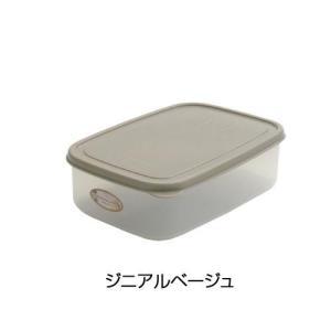 エンバランス 鮮度保持容器 角型 1270ml ジニアルベージュ 11451|ko-te-ya
