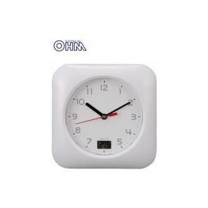OHM お風呂用クロック&温度計 HB-T10-W ko-te-ya