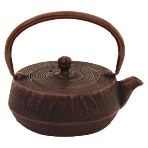 南部鉄器 急須 平寸筒 茶 0.3L OH-427|ko-te-ya