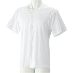 紳士半袖ホック式シャツ ホワイト 1908|ko-te-ya