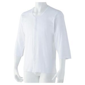 紳士7分袖ホック式シャツ ホワイト 1909|ko-te-ya