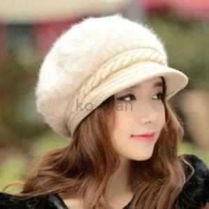 帽子 レディース 秋冬 キャップ キャスケット ふわふわ 取り外し可能 ニット帽 つば付き 小顔効果 おしゃれ|ko-tyan