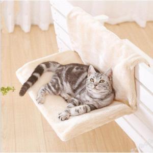 猫ペット ねこハンモック ペットベッド ペット用品ネコ お昼寝 ベッド マット 手すりや椅子にワイヤーフックで引っかけるタイプ ko-tyan