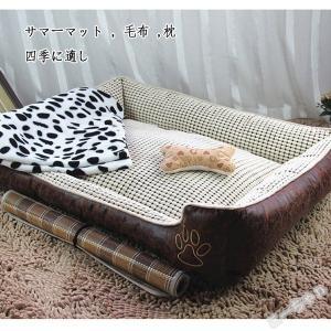 ペットベッド 犬ベット 夏用 涼しい マットクッション 犬用 猫用ベッド  ふわふわ ペット用品  小型犬 大型犬 可愛い 冷えマット 洗える 冷感 耐噛み 三点セット ko-tyan