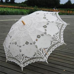 日傘 レース 遮光 UVカット 長傘 レディース ホワイト 白 かわいい コンパクト おしゃれ 上品 エレガント 48cm|ko-tyan