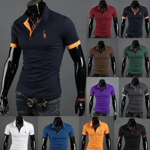 メンズ ポロシャツ 半袖 トップス ファッション 2020 カットソー 夏着 ゴルフウェア ゴルフシャツ おしゃれ 赤 黒 白 セール|ko-tyan