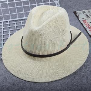 麦わら帽子 つば広ハット パナマ帽 ストローハット テンガロンハット レディース メンズ ベルト ウエスタンハット カウボーイハット 紫外線防止 ko-tyan