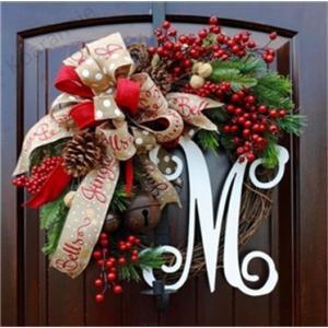 クリスマス飾り 30CM クリスマスツリー オーナメント ナチュラル リース ドア 玄関 庭園 部屋...