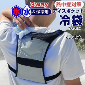 熱中症対策グッズ 現場 空調服の中に着ても涼しさ倍増 氷!冷水!保冷剤でひんやり涼しい クールビットアイスポケット冷袋つめたい  coolbit 4CL-IP2|kobaya-coltd