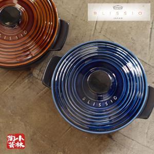 国産土鍋 BLISSIO(ブリシオ) キャセロール 無水調理鍋 銀峯 21 ガス火用