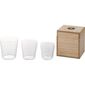 MICO 酒グラス3個組 木箱入|kobayashigift