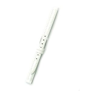 時計バンド 8ミリ 牛革 ワニ柄型押し ホワイト 送料100円より BANBI バンビ 時計ベルト 8mm|kobe-asahiya