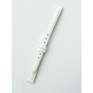 時計バンド 10ミリ 牛革 ワニ柄型押し ホワイト 送料100円より BANBI バンビ 時計ベルト 10mm|kobe-asahiya