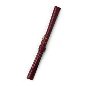 時計バンド 10ミリ 牛革 無地 ワイン 送料100円より BANBI バンビ 時計ベルト 10mm|kobe-asahiya