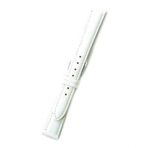 時計バンド 14ミリ 牛革 無地 ホワイト 送料100円より BANBI バンビ 時計ベルト 14mm|kobe-asahiya