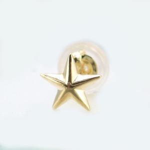 メンズピアス 本物18金 スター 星 デザイン  ピアス K18  片方 シングル|kobe-asahiya