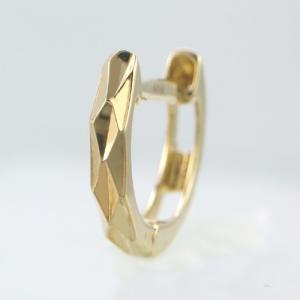 メンズピアス 本物18金 ダイヤカットリングS フープピアス K18 片方 シングル|kobe-asahiya